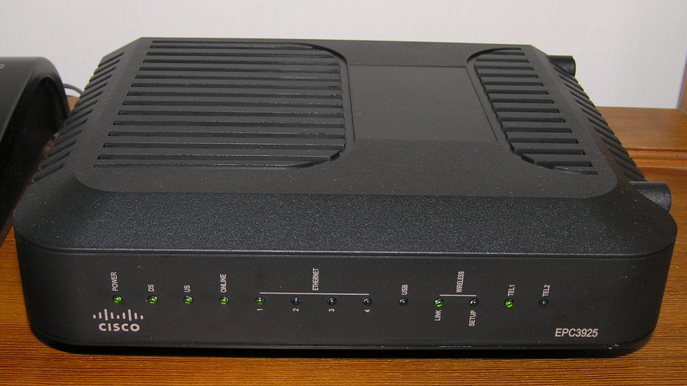 A picture of a Cisco router. It probably has the NAT abilities.
